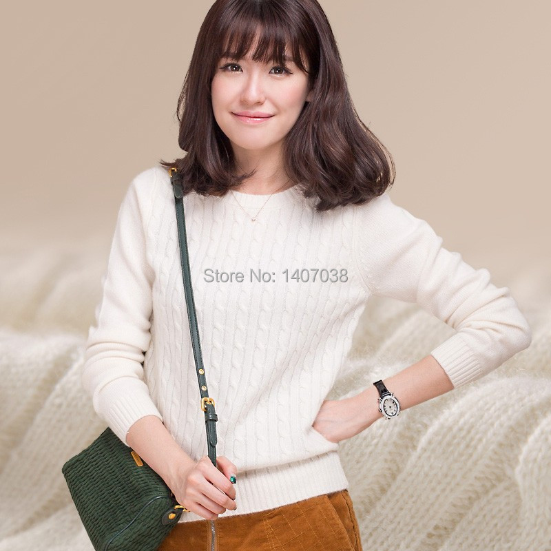 Free shipping new 100% cashmere sweater women's casual long-sleeved shirt sweater hedging thick autumn and winter sweater woman