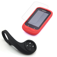 31 8mm Cycling Computer Handlebar QuickView Bracket Black Mount Rubber Red Case LCD Screen Cover For