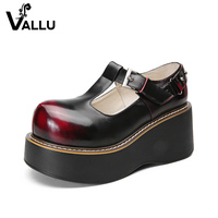 Leather Sandals Shoes Woman Natural Leather Flat Platform Ladies Shoes Closed Toe Mixed Color Vintage Handmade