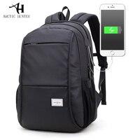 Brand USB Laptop Backpack Men Preppy Style High School Bag For College Backpacks Women Waterproof Oxford