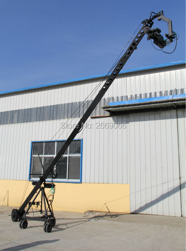 Professional Jimmy Crane Jib Remote 3 axis PTZ head professional jimmy jib Video Camera Crane for sale professional dv camera crane jib 3m 6m 19 ft square for video camera filming with 2 axis motorized head