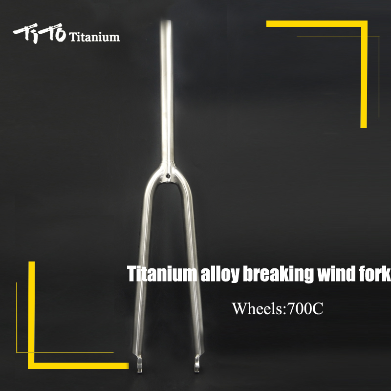 TiTo Gr.9 Titanium alloy road bike front fork 700C disc brake Bicycle Fork break wind Titanium fork Elliptical tarped shape tube tito titanium bottle bicycle drinkware bottle outdoor camping cycling hiking sport bike titanium lid 750ml titanium bike bottle