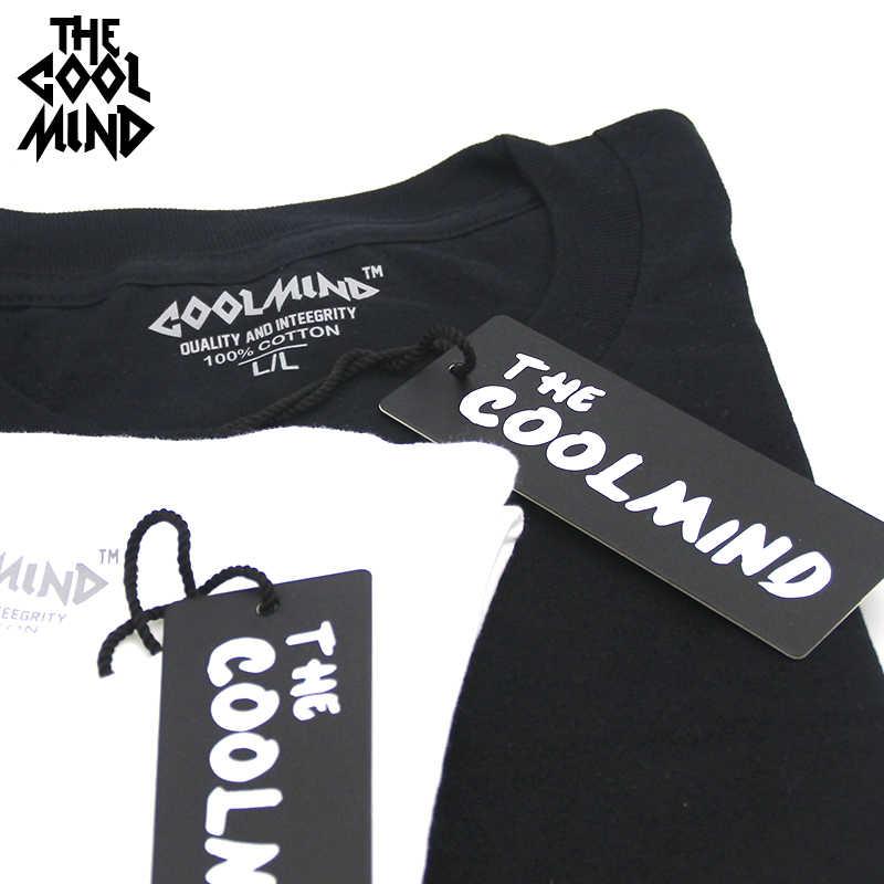 COOLMIND 100% Cotton Casualแขนสั้นSpaceพิมพ์ชายเสื้อT-Neck Cool Streetสไตล์ผู้ชายเสื้อยืดชายTeeเสื้อTops