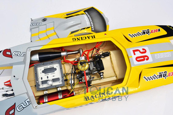 G30K ARTR Fiberglass RC Racing Boat 30CC Engine Water Cooling Sys Exhaust' Sys Yellow TH02705 3