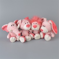 4 Pcs Pink Animals Stuffed Plush Toy, 25cm Baby Kids Doll Gift Free Shipping