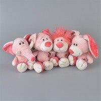 4 pz rosa animali farcito peluche, 25 cm capretti del bambino bambola regalo trasporto libero