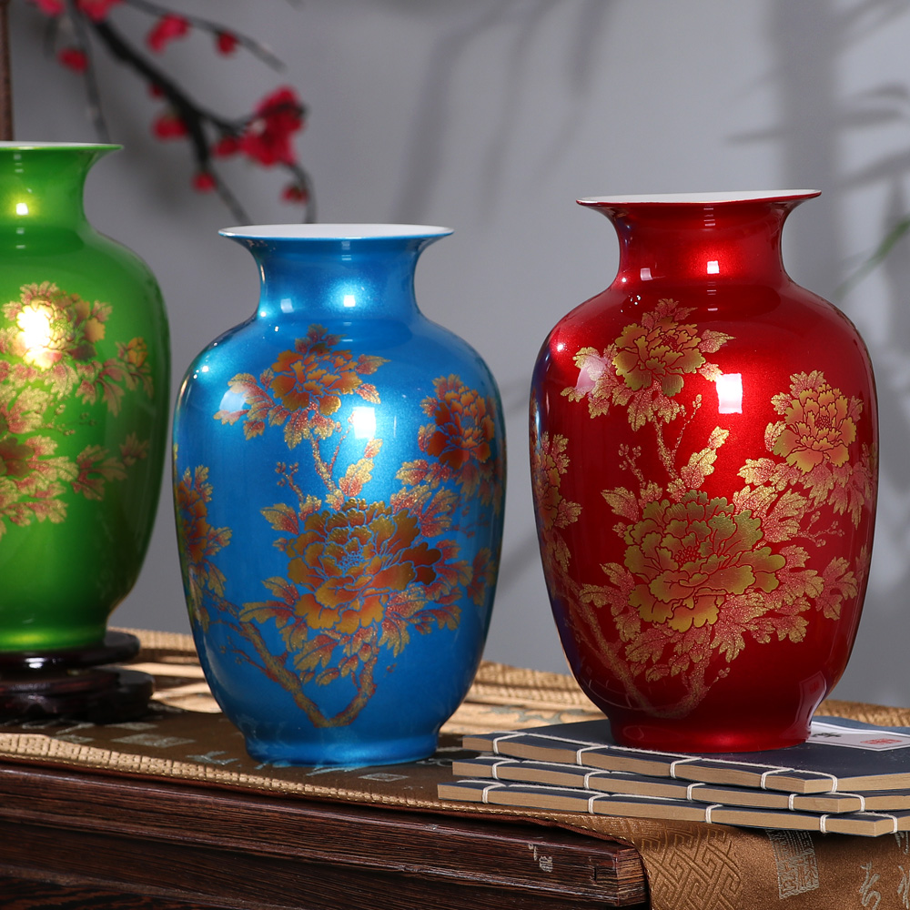 vase ornaments crystal glaze porcelain flower inserting device of new Chinese modern fashion decoration Home Furnishingvase ornaments crystal glaze porcelain flower inserting device of new Chinese modern fashion decoration Home Furnishing