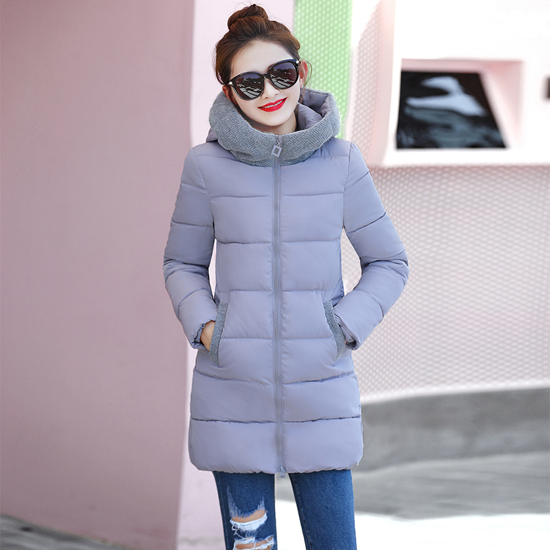 2017 Winter Women's Coat Fashionable Korean Edition Cultivate One's Temperament Medium Long Warm Student Hooded Cotton-padded fundamentals of physics extended 9th edition international student version with wileyplus set