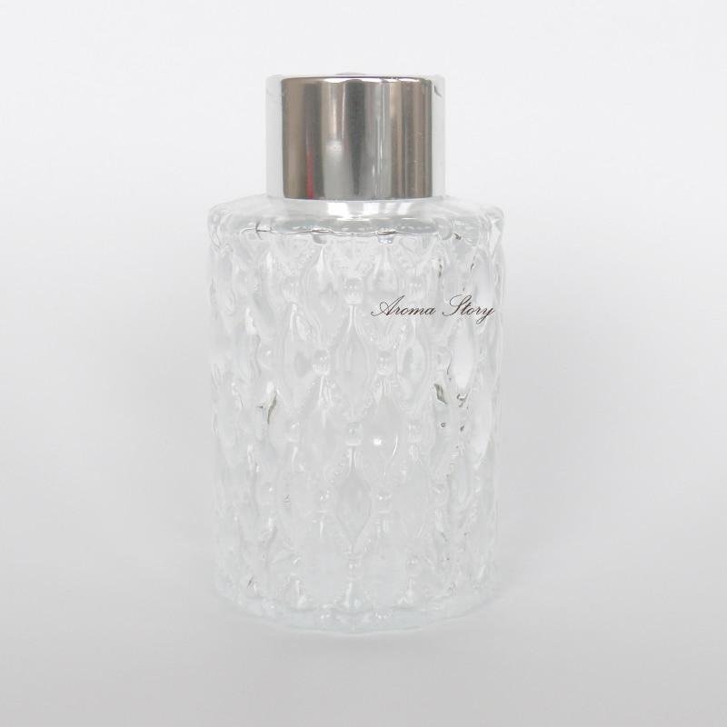 5 teile//los 80 ml Geschnitzte Reed Diffusor Flaschen Durchmesser 5 cm, höhe 9 cm /(mit kappe/), gewicht 123g Metall Silber//Gold//Schwarze Kappe