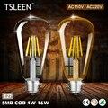 ON Sale TSLEEN Factory Drop Shipping LED Bulb ST64 More Bright LED Corn Lamp Bulb Light Real Full Wat 4w--16w No Flicker