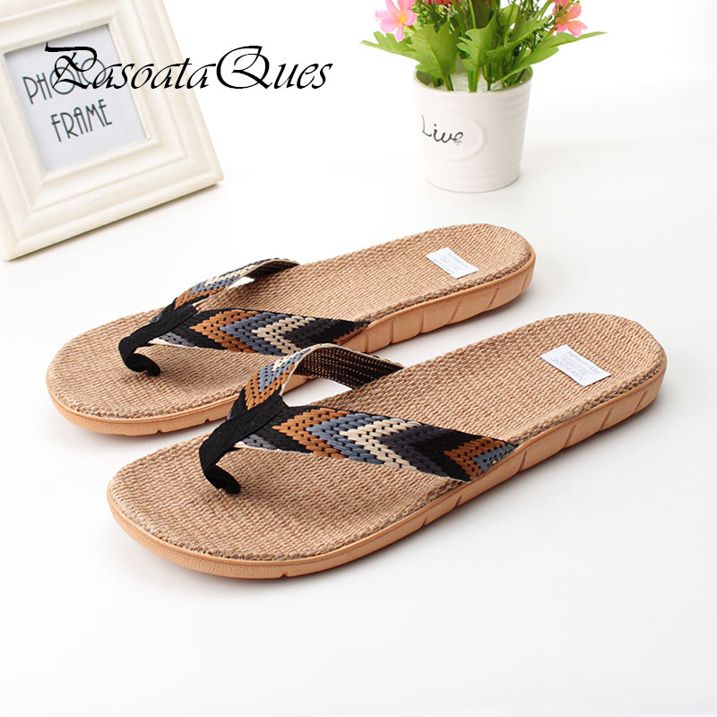 Hemp Men Women Shoes Flip Flops Spring Summer Breathable Home House Indoor Slippers Pasoataques Brand Asspfhp110 new spring cute women slippers breathable comfortable soft house indoor home women shoes pasoataques brand