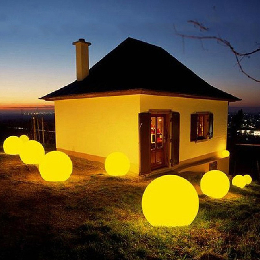 Rechargeable Remote Control RGB Colorful LED Floating Ball Illuminated Swimming Pool Ball Light Outdoor Holiday Garden Light