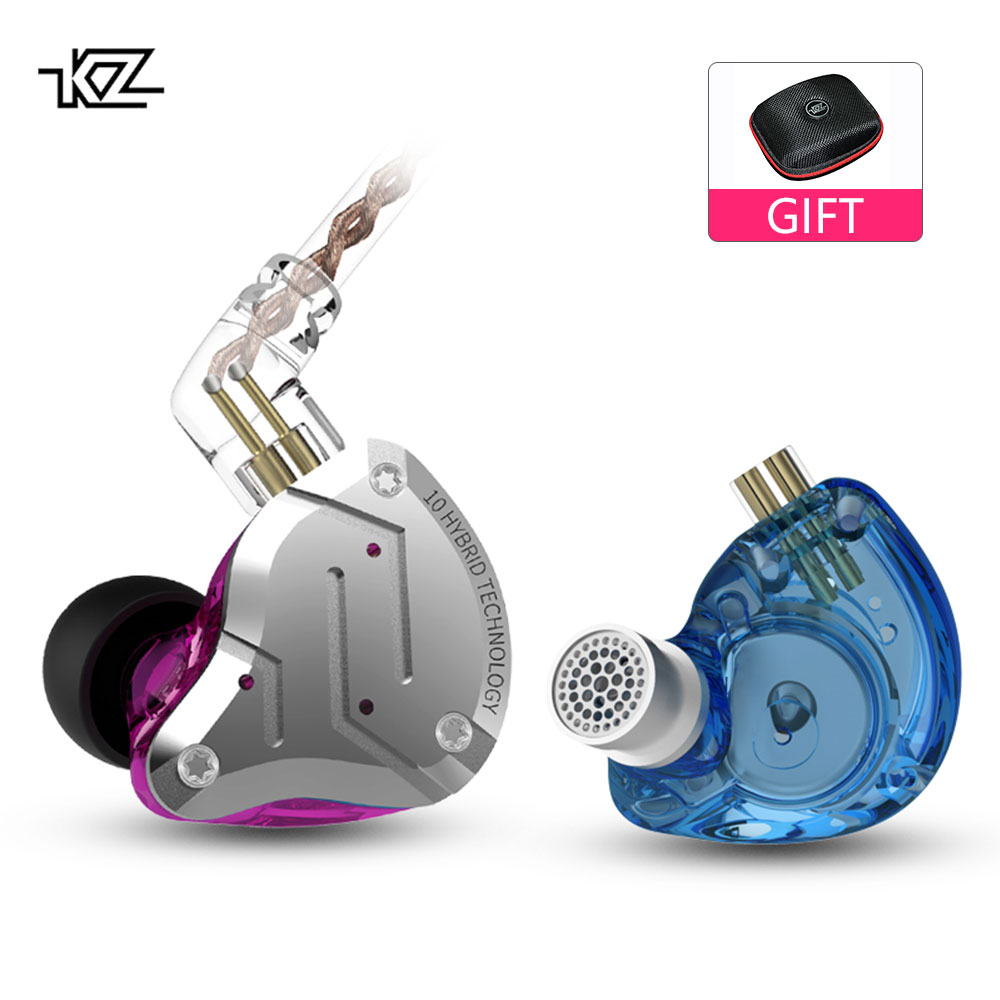 KZ ZS10 Pro Headset 4BA 1DD Hybrid 10 Units HIFI Bass Earbuds In Ear Monitor Headphones