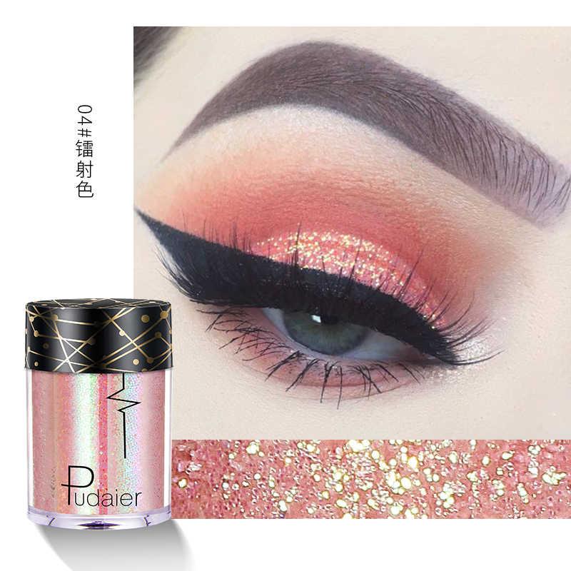 Pudaier 36 цветов Блеск Тени для век блестки перламутровый для лица волосы Eye макияж ногтей High Gloss Пудра-хайлайтер maquillage TSLM1