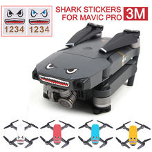 2pcs 3M Stickers Shark Face Decals Skin DIY Accessory for DJI MAVIC PRO