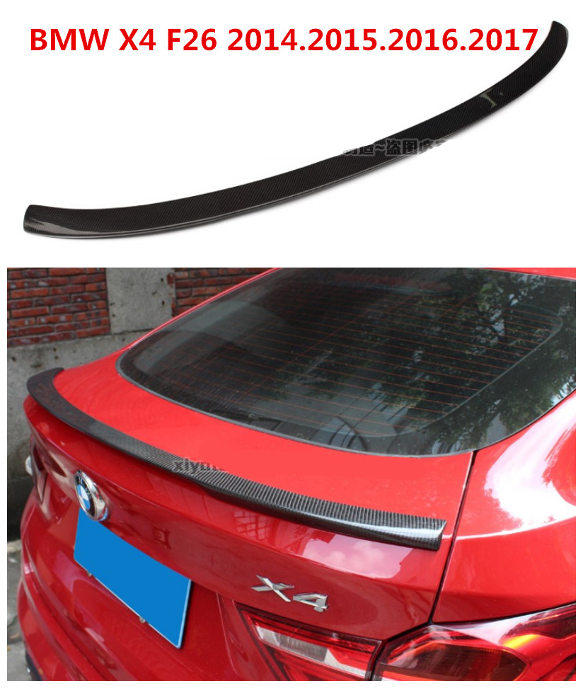Carbon Fiber Spoiler For BMW X4 F26 2014.2015.2016.2017 High Quality Car Rear Wing Spoilers Auto Accessories diffuseur arrière carbone bmw x4 f26