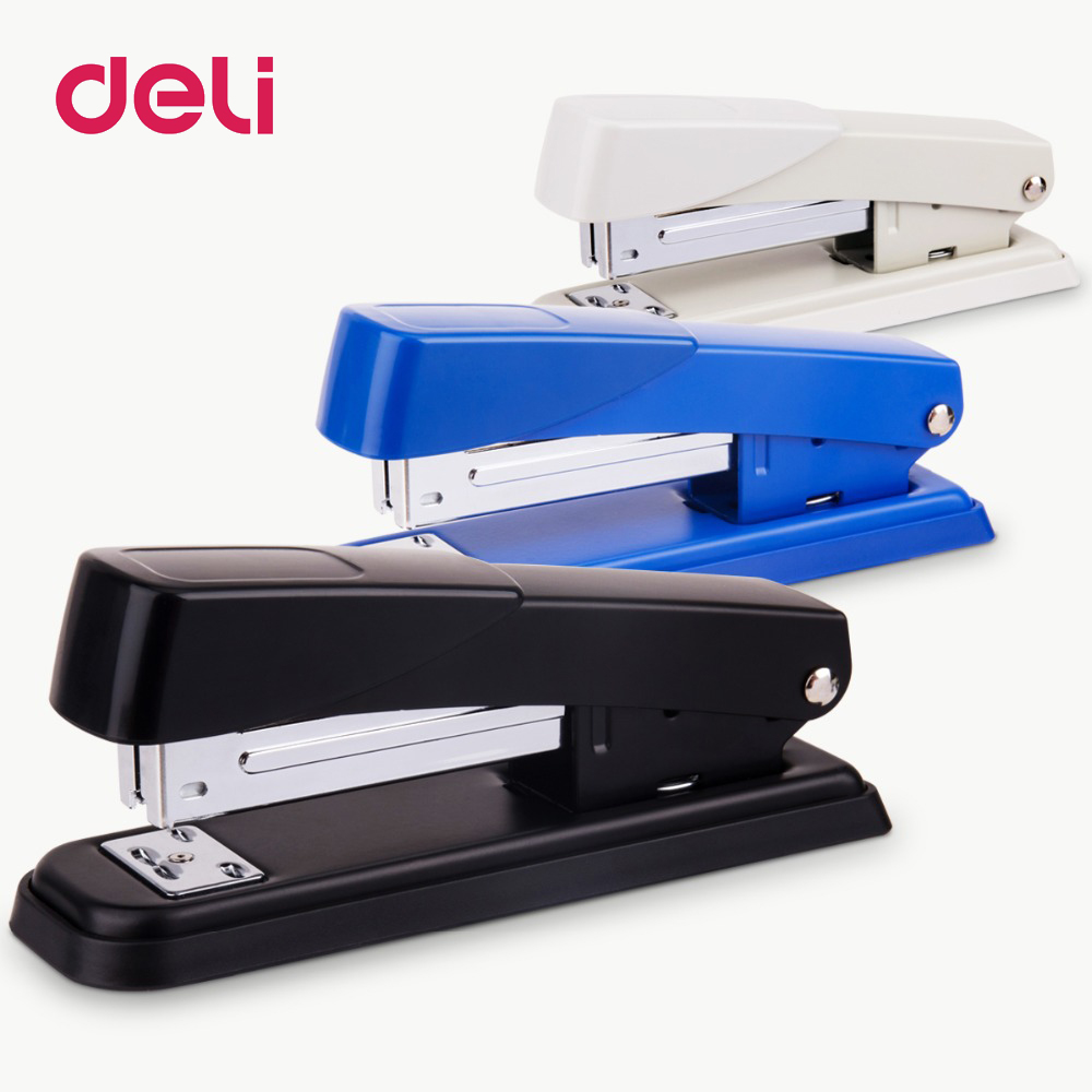 Deli 1pcs Metal Stapler Stationery Stapler Binding Device Medium No. 12 Business Financial Student Office Supplies 0426