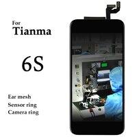 Para tianma 10 UNIDS/LOTE Estrenar Sin Mala Pixel LCD Ensamblaje de la Pantalla con Frío Prensa De Marco Para el iphone 6 s lcd para tianma calidad