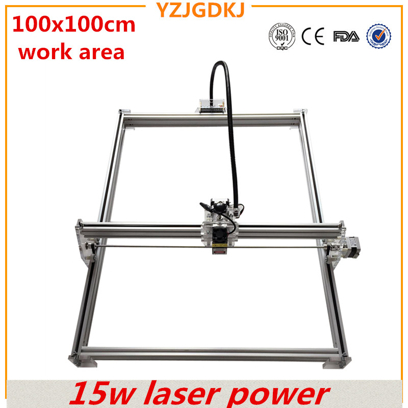 diy mini laser engraving machine ,15w laser cutter metal marking machine support english software work size 1*1m laser engraver 200mw laser power diy mini engraving marking laser engraving machine tool for case cover rubber stamp