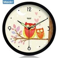 040632 Wall Clock Safe Modern Design Digital Vintage Large Led Kitchen Decorative Mirror Owl Creative Luminous