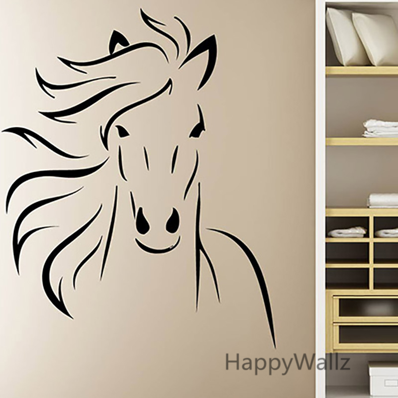 Horse Wall Stickers Modern Horse Wall Decal DIY Decorative Wall Decors  Modern Horse Wallpaper Easy Wall Art A20 In Wall Stickers From Home U0026  Garden On ... Part 83
