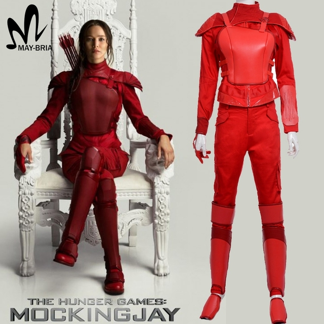 Hunger Games 3 Katniss Everdeen Cosplay costume Red leather Katniss costume suit custom made Halloween costume  sc 1 st  AliExpress.com & Hunger Games 3 Katniss Everdeen Cosplay costume Red leather Katniss ...
