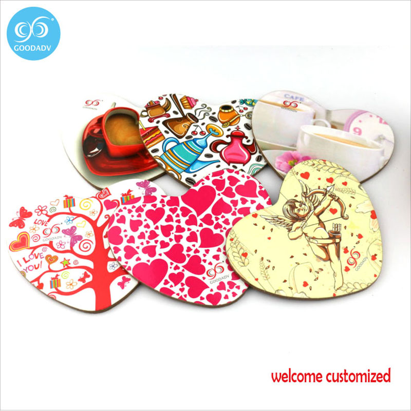 free shipping waterproof wood coaster sublimation cork coaster set