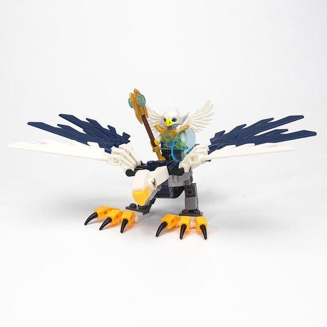CHIMA Super Hero Figures Building Blocks weapon Qigong Animal Model Bricks Compatible legoed Toys For Children