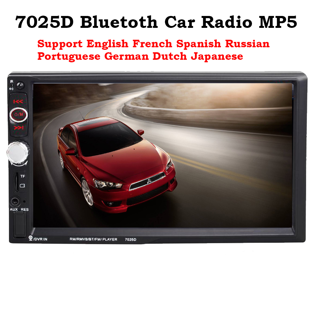 7 inch car Radio MP3/WMA/WAV/MKV/FLAC/OGG/APE HD MP5 player 7025D Rear View Camera Hands ...
