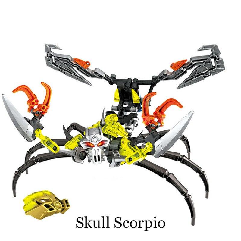 Image 3 - BIONICLE Mask Maker vs. Skull Grinder Biochemical Warrior Building Block set  Robot Model Bricks Compatible with 70795 Kids Toys-in Blocks from Toys & Hobbies