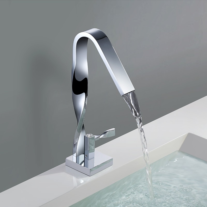 Twist Kitchen Faucets Chrome Polished Bathroom Faucet Crane Single Handle Single Hole Mixer Taps Hot Cold Water Deck Mounted electroplate kitchen faucets brass polished silver bathroom faucet double handle single hole mixer taps hot cold deck mounted