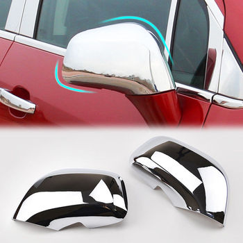 For Buick Encore Opel Vauxhall Mokka 2012-2016 Chrome ABS Car Side Mirror Rearview Cover Trim Cap Molding Car Styling