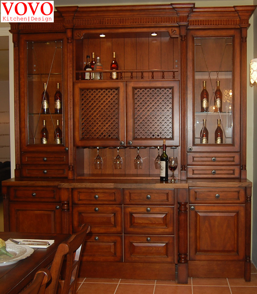 online get cheap natural kitchen cabinets aliexpress com natural solid wood kitchen cabinet with wine rack
