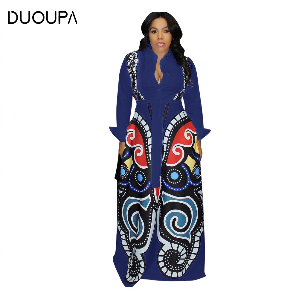 DUOUPA D8239 new <font><b>AliExpress</b></font> Amazon Europe and the <font><b>United</b></font> <font><b>States</b></font> digital positioning printing shirt large swing dress spot sales image