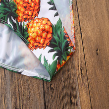 Summer Mother Daughter Pineapple Print Monokini Swimwear