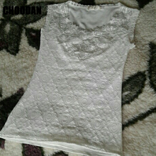 Flower Embroidery Tank Top for Women
