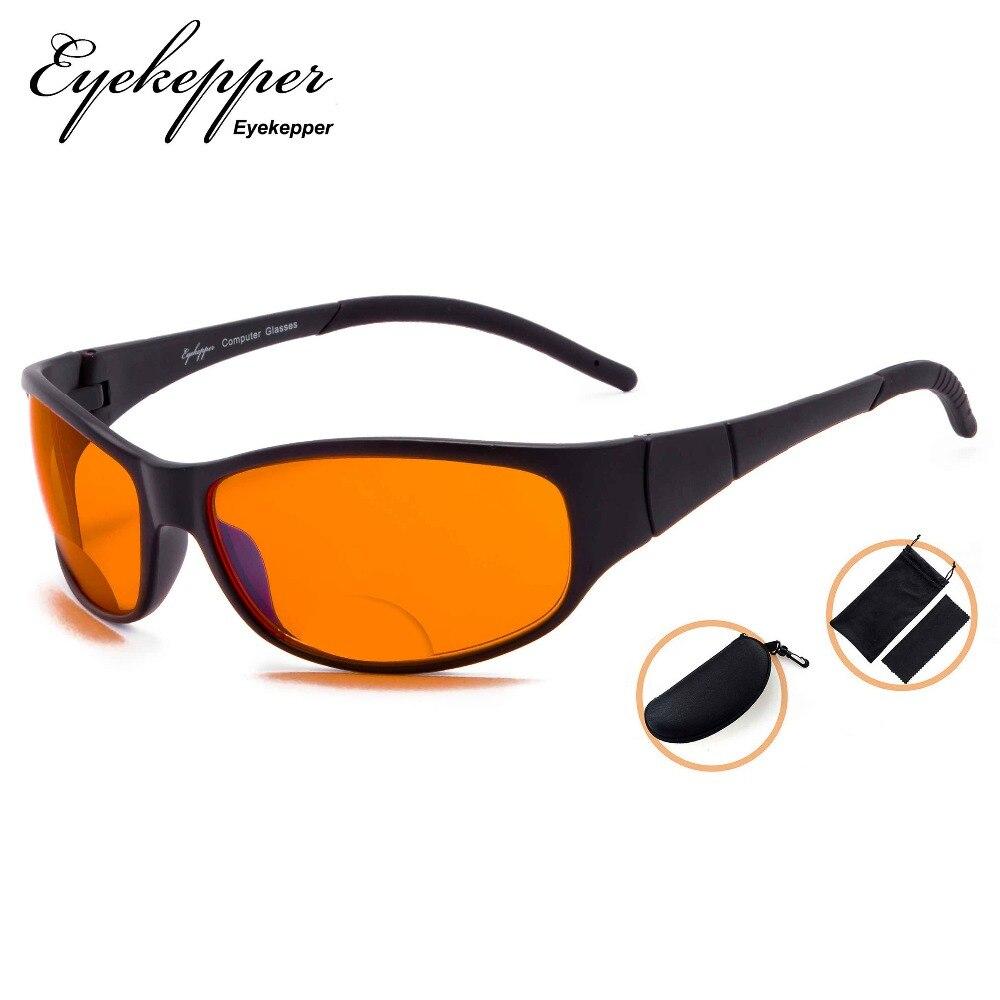SGS080 Eyekepper Blue Blocking Amber Bifocal Glasses for Sleep-Nighttime Bifocal Readers-Special Orange Tinted Glasses amber