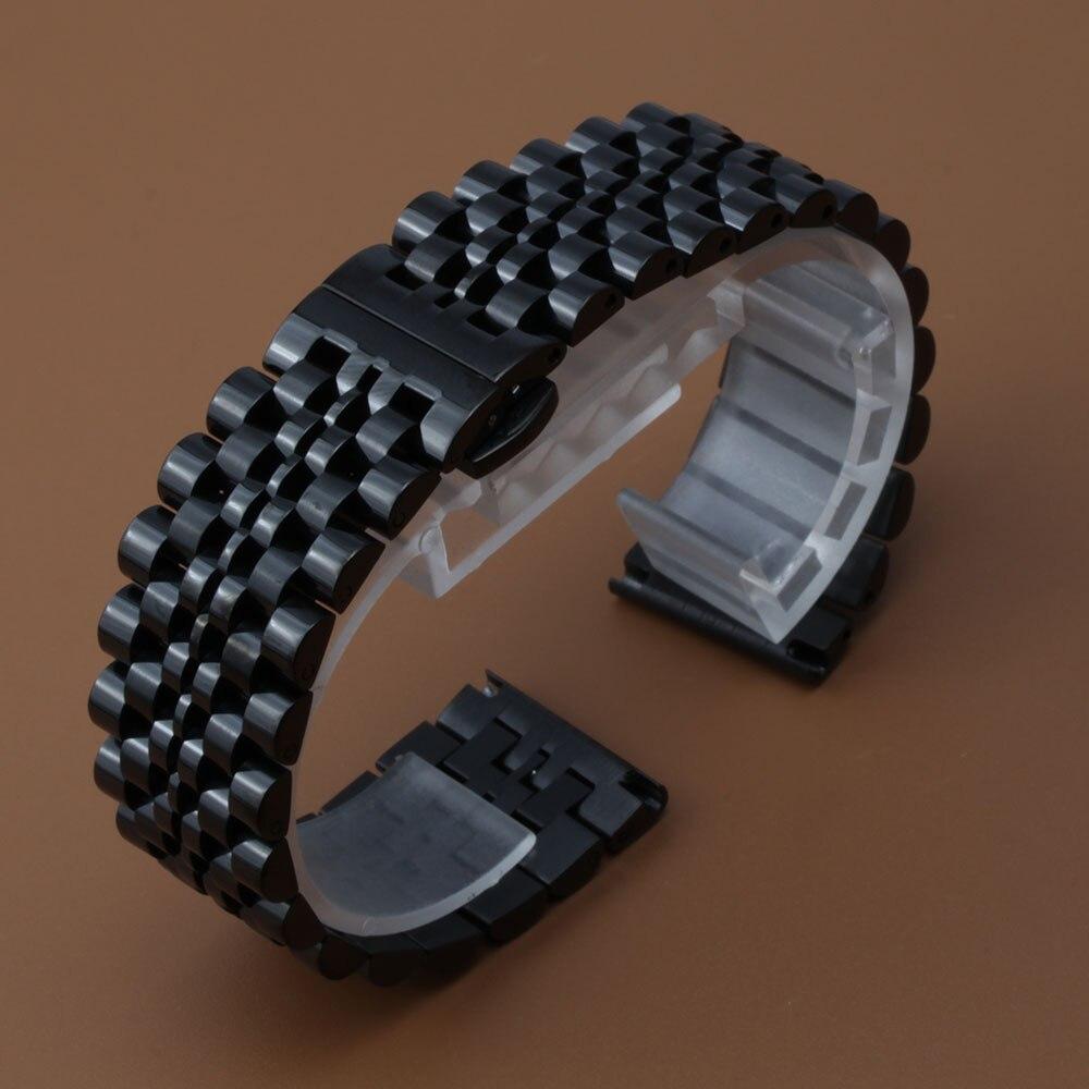 Bandas de metal para relojes de marca Correa de acero inoxidable 18 mm 19 20 mm 21 mm 22 mm con hebilla de mariposa Accesorios de estilo nuevo