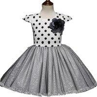 2018 Spring S Dot Kids Dresses For Girls White Toddler Princess Dress Christmas Children Clothing 1