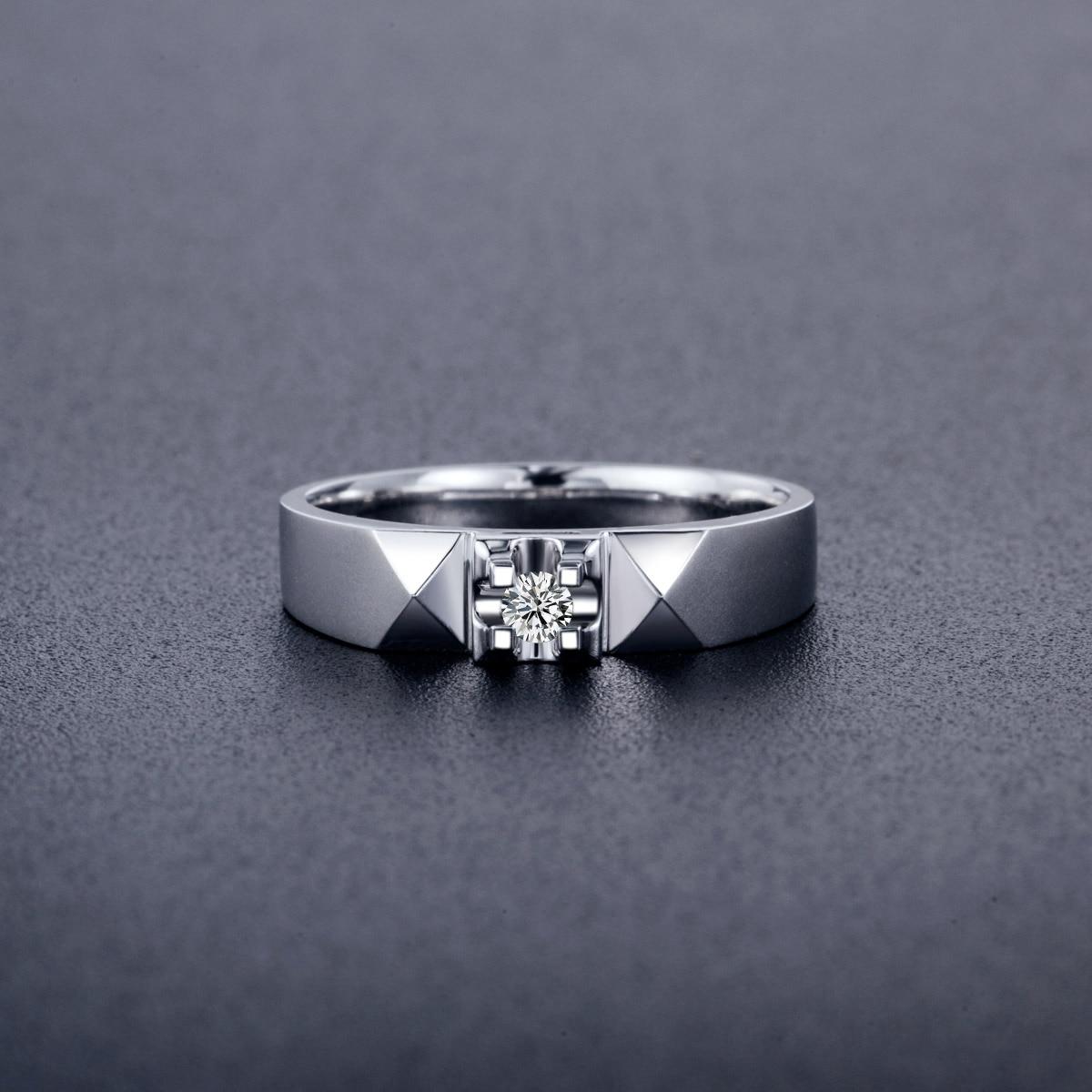 18 كيلو 0.06ct الماس خاتم الذهب للرجال حقيقية ك الذهب و الماس الطبيعي الرجال خاتم الزواج خاتم الخطوبة الجميلة مجوهرات