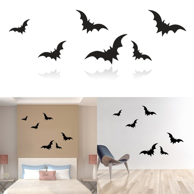 Waterproof Flying Bat Vinyl Wall Sticker Diy Decal Window Decor