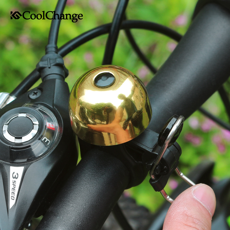 CoolChange Mountain bike bicycle horns bicycle bells copper material vintage design Bicycle accessories in Bicycle Bell from Sports Entertainment
