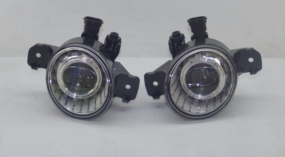 Pair OEM LED  Fog Light Lamps for Nissan qashqai  X-Trail  Teana  Altima micra  Murano Pathfinder Versa  Sentra Rogue Sylphy car genuine leather steering wheel cover for bluebird sunny pathfinder pickup teana tiida sylphy geniss cefiro x trail cc nissan