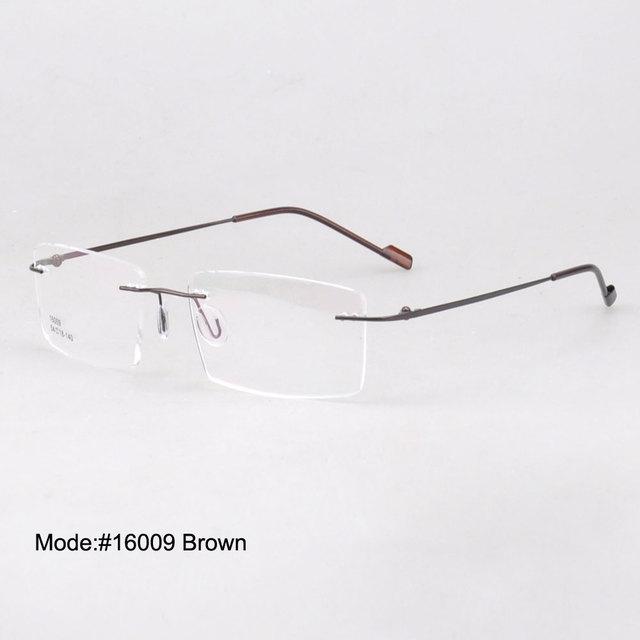 53d50b366e MY DOLI 16009 Wholesale unisex rimless memory metal eyewear optical frames  1 lot 50PCS factory price