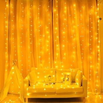 8dbb4e50b5c 2 3 6 M cortina LED cadena Luz de hadas LUZ DE carámbano de Navidad LED  Garland boda fiesta Patio ventana al aire libre cadena de luz de la  decoración