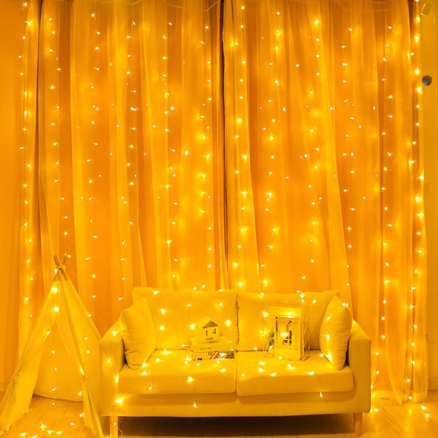 2/3/6M Curtain LED String Light Fairy Icicle LED Christmas Garland Wedding Party Patio Window Outdoor String Light Decoration