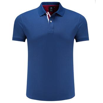 Golf polo koszule męskie z krótkim rękawem t-shirt treningowy mężczyźni Fitness T Shirt lato skręcić w dół kołnierz polo Tshirt Running T Shirt tanie i dobre opinie JUNJIAN COTTON Poliester Pasuje prawda na wymiar weź swój normalny rozmiar Anty-pilling Anti-shrink Szybkie suche Oddychające
