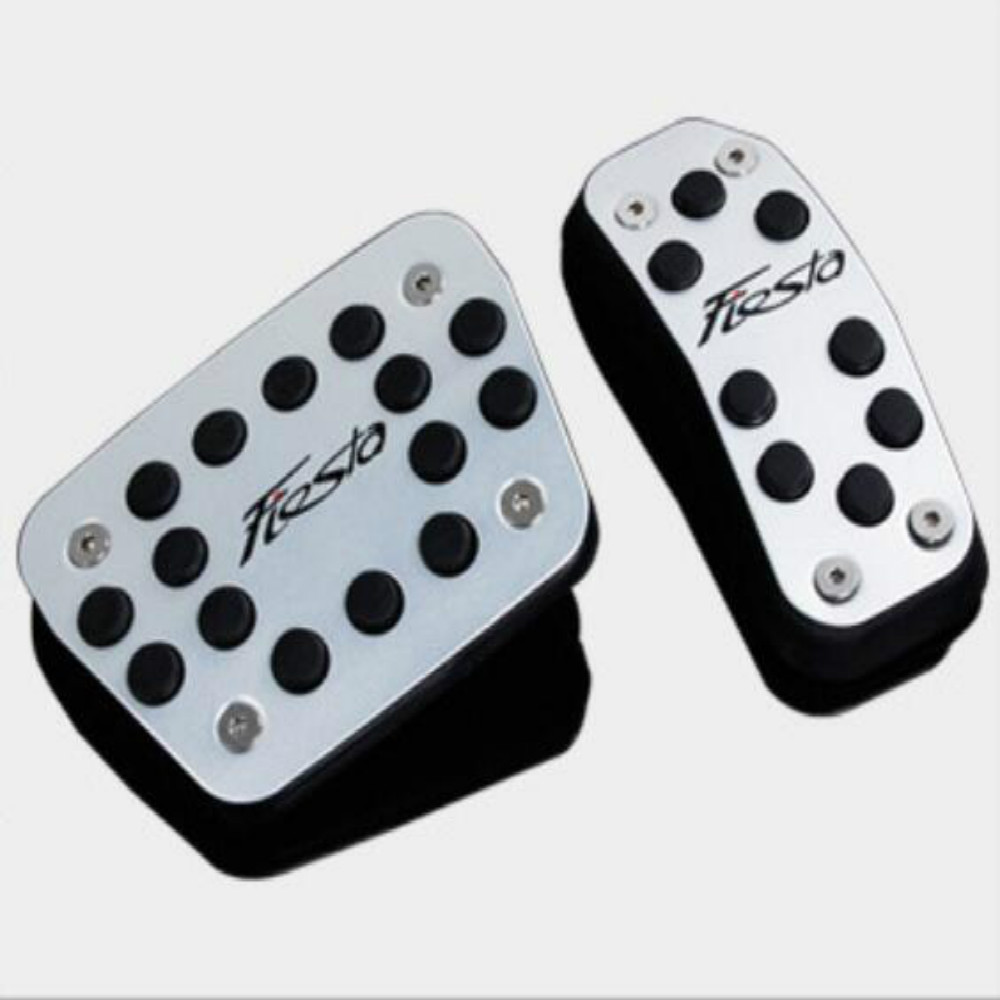 Color My Life Car Brake Pedal Accelerator Gas Pedals Pad Cover for Ford New Fiesta MK7 2009 - 2017 Accessories