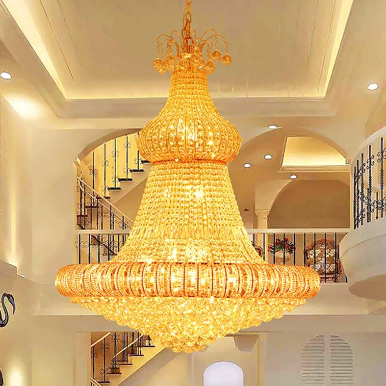 LED Gold Kristallen Kroonluchter Verlichting Armatuur Amerikaanse - Binnenverlichting - Foto 2