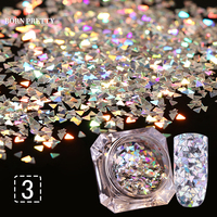 1 Box BORN PRETTY Laser Nail Glitter Sequins Triangle Paillette Tips Decor 8 Colors Manicure Nail Art Decorations